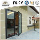 Portello di alluminio della stoffa per tendine con doppio vetro