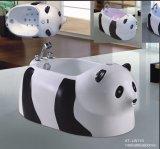 STAZIONE TERMALE della vasca da bagno di massaggio di figura del panda con Ce e lo Special di RoHS (AT-LW110)
