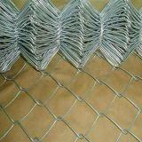 체인 연결 담 또는 다이아몬드 담 또는 철망사 담