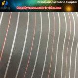Brown-Streifen-Polyester-Garn-gefärbtes Gewebe für Kleid-Futter (S010.013)