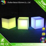 Farbe, die LED-Würfel-Stuhl/Nachtklub-Möbel/Stab-Stuhl ändert