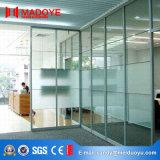 Porte en aluminium amovible de partition en verre de bâti de qualité