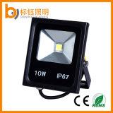Las luces de inundación 10W de alta potencia y Quanty iluminación LED reflector al aire libre de aluminio + vidrio endurecido