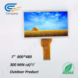 """7개의 """" 420의 CD/M2 24 비트 RGB 공용영역 Transpatent LCD 디스플레이"""