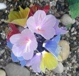 Lumière optique de chaîne de caractères de jardin de fleur de fibre solaire, Tigerlily