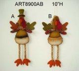 """10 """" het Ornament van Turkije van de Jongen & van het Meisje van H met Houten de been-2asst-Oogst van de Parel Decoratie"""