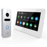 접촉 스크린 기억 장치를 가진 영상 문 전화 내부통신기 7 인치 주택 안전