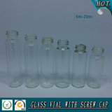 5ml-20ml borran las botellas tubulares de cristal cosméticas con diversa tapa