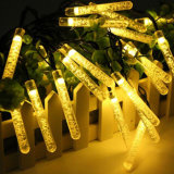 Jardin Décoration de fête de Noël Light Bubble Icicle Fairy Lighting 50 LED Outdoot String Light Solar Powered