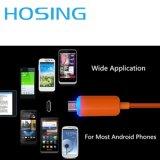 iPhone와 Samsung Huawei 이동 전화를 위한 다채로운 USB 케이블 LED