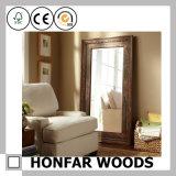 Klassisches Brown-fertiges Badezimmer-dekorativer hölzerner Spiegel-Rahmen