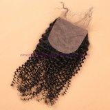 capelli mongoli del Virgin 8A con riccio crespo della chiusura bassa di seta con i capelli ricci crespi del Virgin della chiusura bassa di seta con chiusura