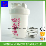 Beweglicher fester weißer Plastikprotein-Schüttel-Apparat der Farben-400ml mit Stainess Metallkugel