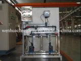 Dosando o equipamento do tratamento da água do dispositivo