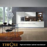 Het beste Meubilair van de Keukenkast van de Lak van de Ideeën van de Keuken Moderne Hoge Glanzende met Marmeren Bovenkanten tivo-0050V