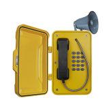 Téléphone industriel de mouvement de pages, téléphone de sûreté de mine, téléphone de tunnel avec le klaxon et haut-parleur
