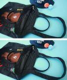 Broderie de dessin animé de grande capacité de sac à provisions d'insigne de sac d'emballage de toile
