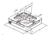 Tooling r системы 3r центризуя плиту 3A-400008