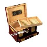 Rectángulo de regalo de madera del embalaje del cigarro de la alta calidad con el reloj