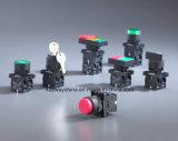 Colori rossi e verdi dell'interruttore di pulsante di Dia22mm-La118ke, tensione 6V-380V