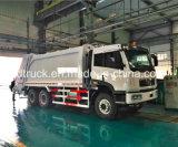 o tipo caminhão da compressão de lixo, 15-20M3 comprimiu o caminhão de lixo