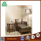 Mobília moderna personalizada do quarto do hotel da madeira de faia de Brwon