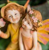 Calidad alta personalizado resina de hadas del ángel con las alas Decoración