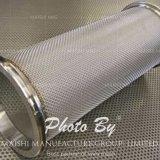 Tubos filtrantes de acoplamiento de alambre de acero inoxidable
