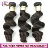 人間の毛髪の会社の自然なバージンのRemyのミンクの人間のブラジルの毛