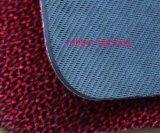 赤い群がる床のマットの台所マットのドアのカーペットのゴム敷物
