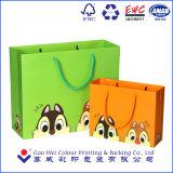 sacos de papel fortes grandes de compra impressos costume do presente luxuoso da forma com seu próprio logotipo