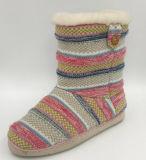 Ботинки способа Средний-Икры Knit женщин Multi