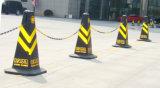Encadenamiento plástico de la barrera de seguridad para los conos del tráfico