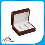Rectángulo de empaquetado personalizado del regalo de madera de la joyería