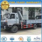 판매를 위한 기중기 8t 기중기 트럭을%s 가진 180HP 5 톤 6ton 화물 자동차 트럭
