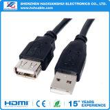Câble usb de micro du noir 3FT de Shenzhen avec l'AM à l'USB micro