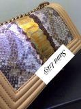 2017 Echte Leer van de Kalfsleder van de Laag van de Lente het Nieuwe Stijl Ingevoerde Eerste met de Geparelde Handtas Van uitstekende kwaliteit van de Totalisator van de Vrouwen van Bloemen L27cm Super Toevallige