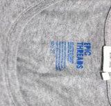 Escritura de la etiqueta de la ropa del traspaso térmico de la transferencia de la escritura de la etiqueta de instrucciones del diseño que se lava para la camiseta del algodón