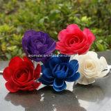 Flor de madera coloreada de Sola del difusor del petróleo de Rose (SF092)