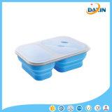 Faltender Koje-Mikrowellen-Mittagessen-Kasten-Nahrungsmittelgrad-Silikon-im Freienmittagessen-Kasten