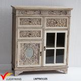 2つのドア2の引出しフランスの小さい手によって切り分けられる古いコンソール家具