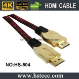 도금된 Xerxes 24k 금은 이더네트 3D 1.4를 2.0 4k HDMI 케이블 지원한다
