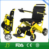 Cadeira de rodas elétrica Foldable do estojo compato ultra claro do curso para enfermos