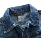 Мальчики одежд детей способа напечатали куртку джинсовой ткани