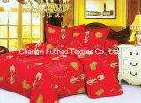 Conjunto barato colorido del lecho de la materia textil de China Suppiler del poliester de la impresión de la cubierta de encargo del mismo tamaño casera del Duvet