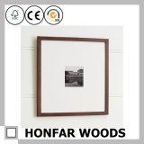 Frame de retrato de madeira fino escuro de Brown para a decoração Home