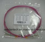 Om4 Koord van het Flard van de Vezel van lc-LC Multimode Duplex10g Optische