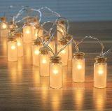 Van de LEIDENE van de Kruik van het Glas van Vintag het Licht van het Koord Fee van Kerstmis