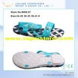 Sandálias ocasionais das mulheres do PVC de China, sandálias Funky das senhoras do dedo do pé aberto da forma