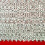 Buntes Stickerei-chemisches Ineinander greifen-Spitze-Gewebe-Polyester-afrikanisches gedrucktes Gewebe für Sprung-Kleid